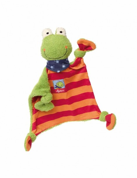 Doudou Grenouille Orange et Rouge 25 cm Sigikid -