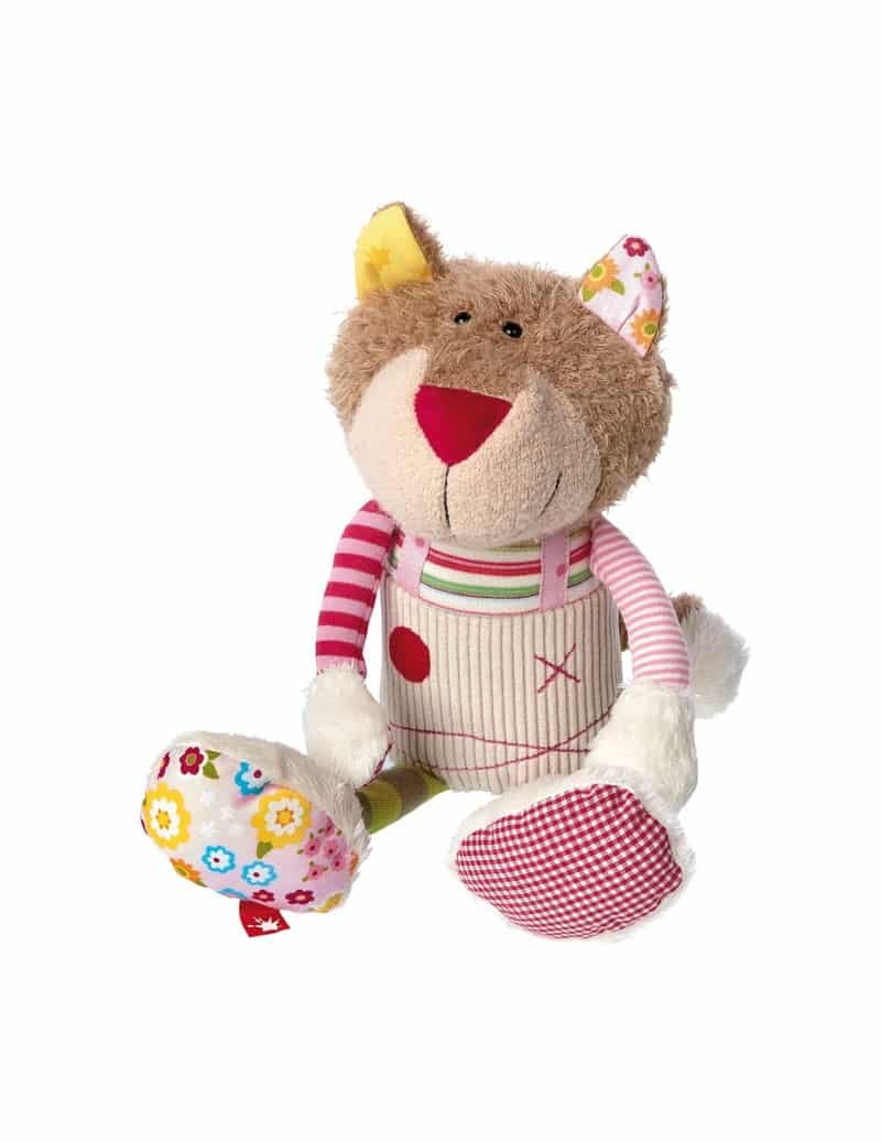 Peluche Chat Patchwork Sweety 23 cm Sigikid -