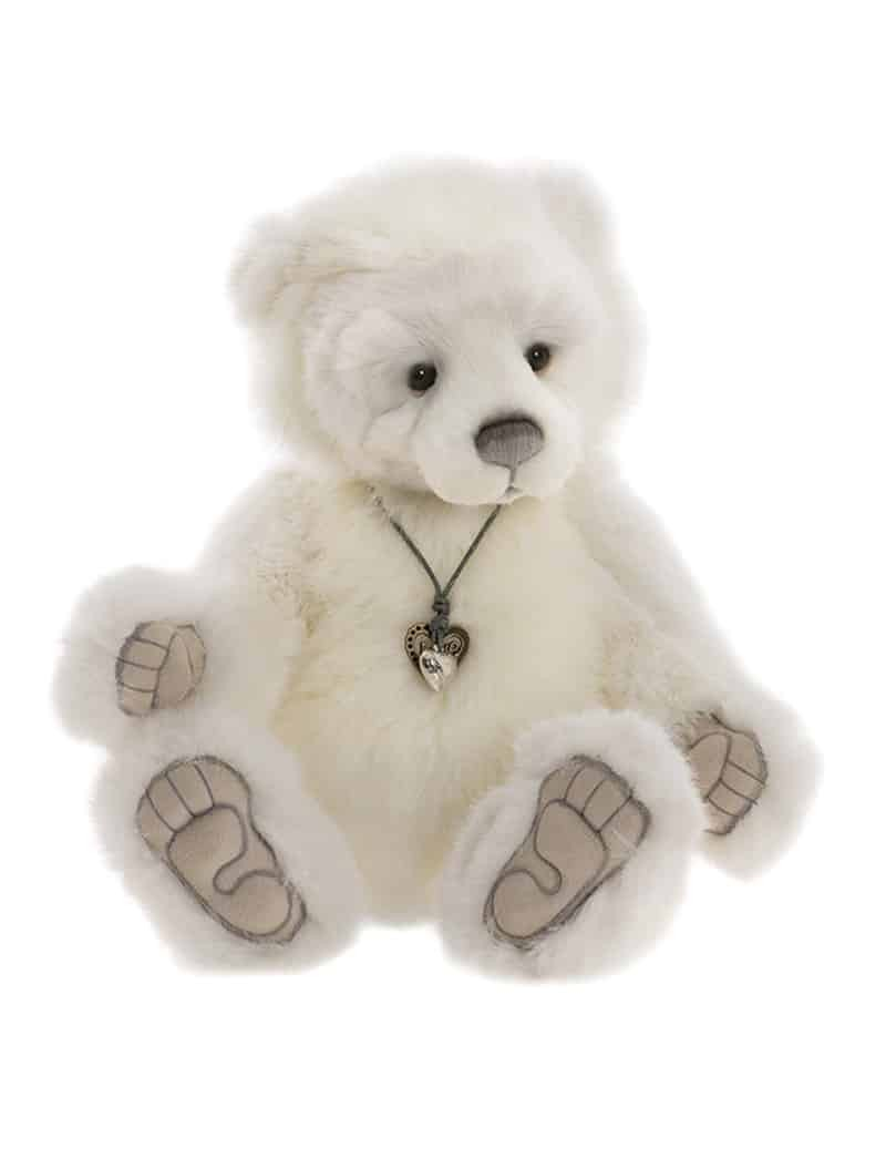 Peluche Grizzly Blanc Chillblaine 41 cm Charlie Bears -